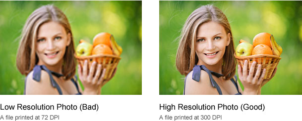 Low Resolution vs. High Resolution